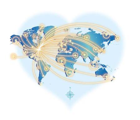 GLOBAL COMMUNICATION (from New York) Illustration