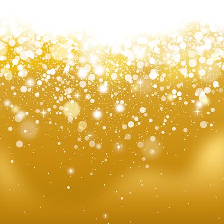 Golden glittering.