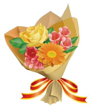 a bouquet of flowers Illustration