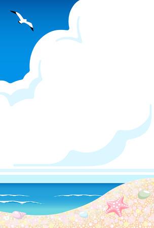 Summer beach 일러스트