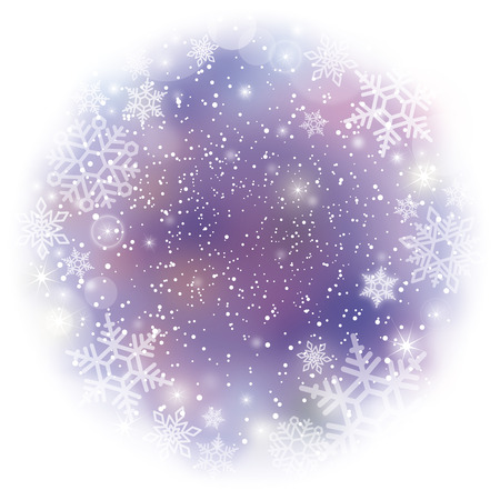 Winter with snowflakes-illustration 向量圖像
