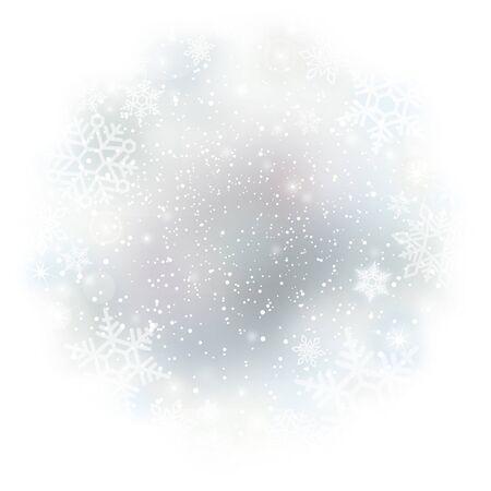 Winterhintergrund mit Schneeflockenvektorabbildung Vektorgrafik