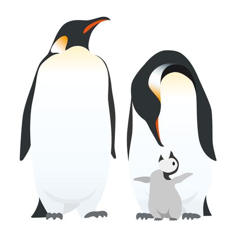 La famiglia dei pinguini dell'imperatore.