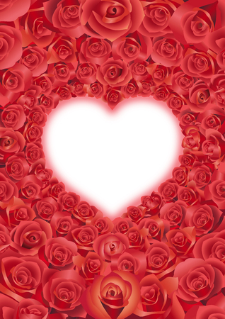 celebrate: Red roses in a heart shape