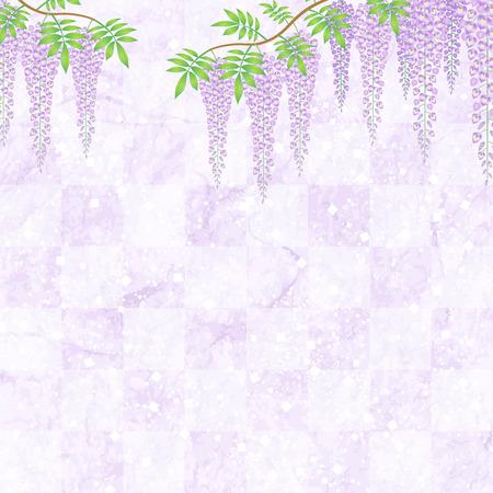 Purple floral background Illustration