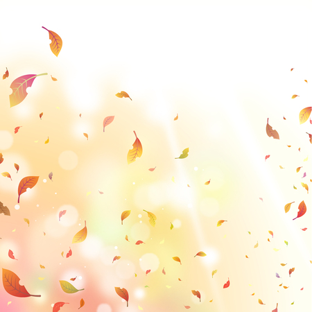 The dead leaves fluttered about in the wind Illustration