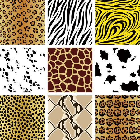 Seamless animal patterns