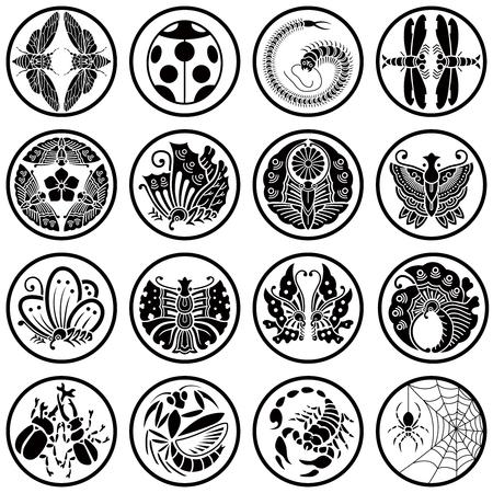 bug icons illustration.