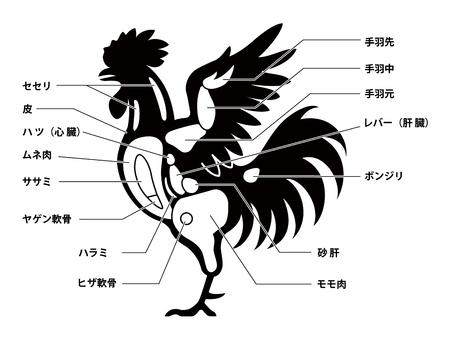 Chicken cuts diagram.