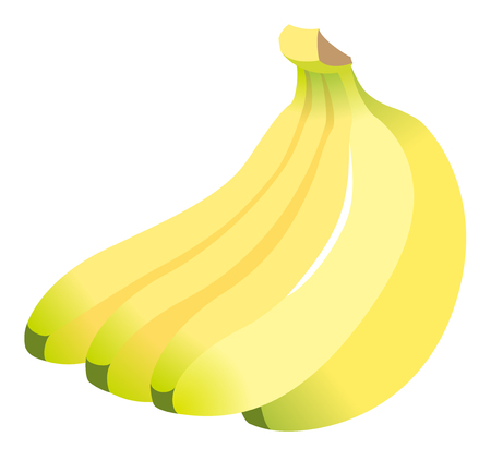 Fresh bananas, isolated on white background. Stok Fotoğraf - 107134836