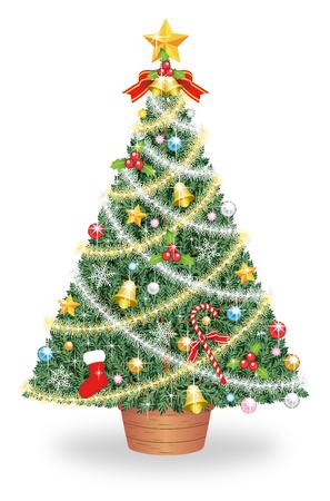 Christmas tree, isolated on the white background Stok Fotoğraf - 112803576