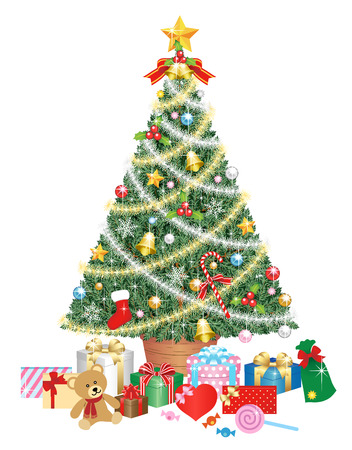 Christmas tree, isolated on the white background Stok Fotoğraf - 112803577