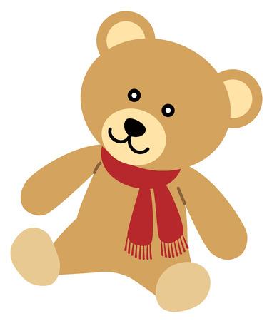 Teddy bear child, isolated on white background