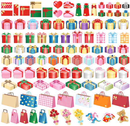Gifts isolated on white background Stok Fotoğraf - 117690682