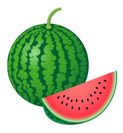 fresh watermelon, isolated on white background. Stok Fotoğraf - 117690692