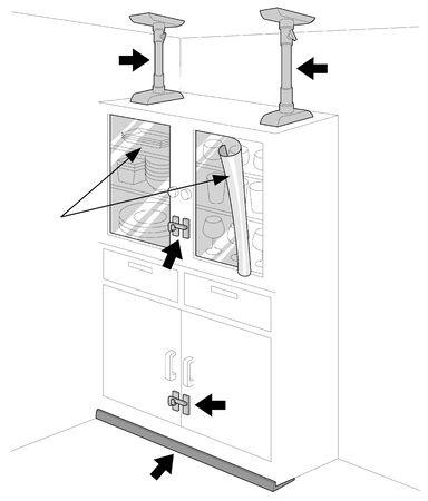 Earthquake Furniture Fall Prevention Иллюстрация