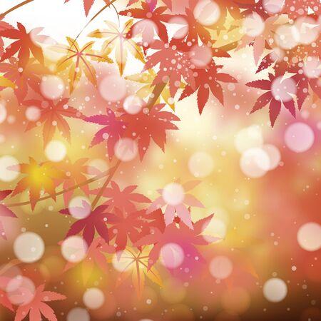 Autumn background with maple leaves Ilustração Vetorial