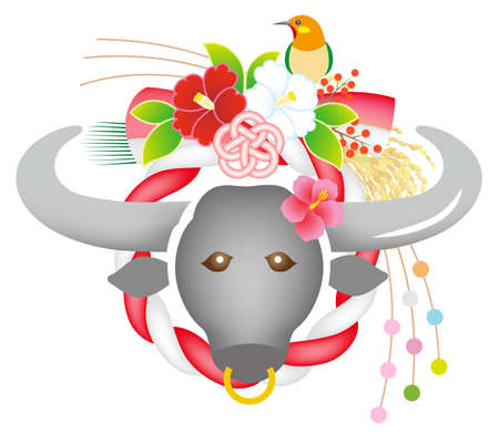 Cow Ox New Year Decoration Shime Decoration