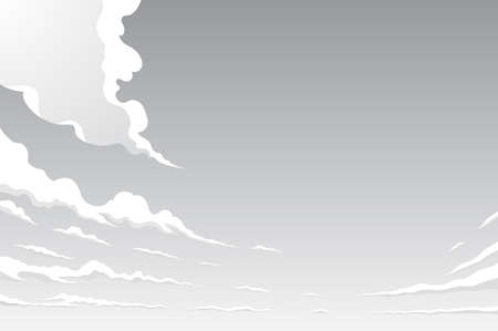 Sky Clouds Cartoon-style background material Ilustracja