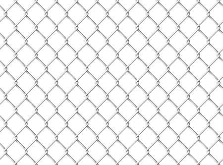 Wire mesh fence seamless pattern Vectores