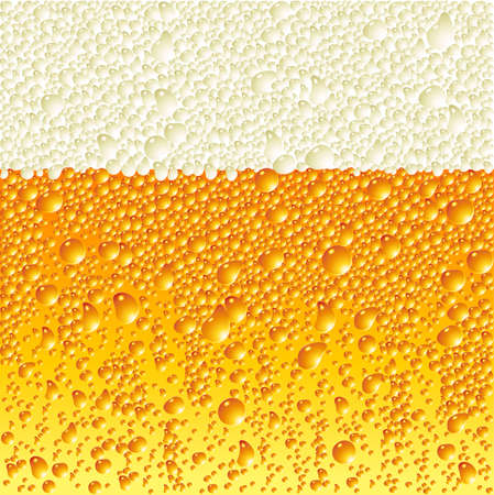condensation on glass: Beer Illustration