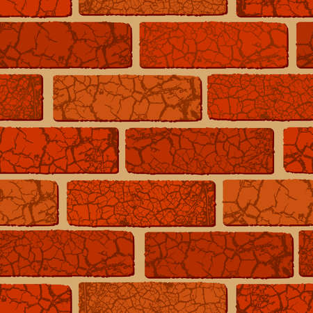 Seamless brick texture Stock Vector - 4950099