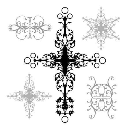 cross tattoo symbol: elements