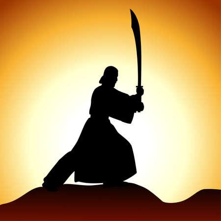 samurai sword: monk
