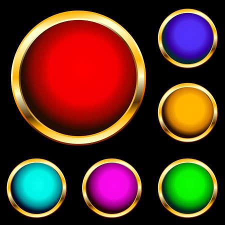 button Stock Vector - 4998830