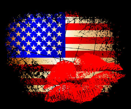 fourth of july: bandiera