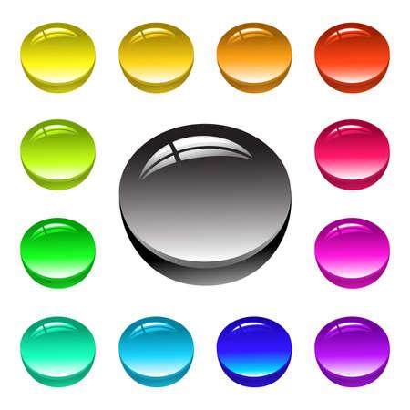 button Stock Vector - 5019043