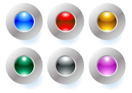 buttons Stock Vector - 5019040