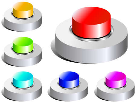 buttons Stock Vector - 5019058