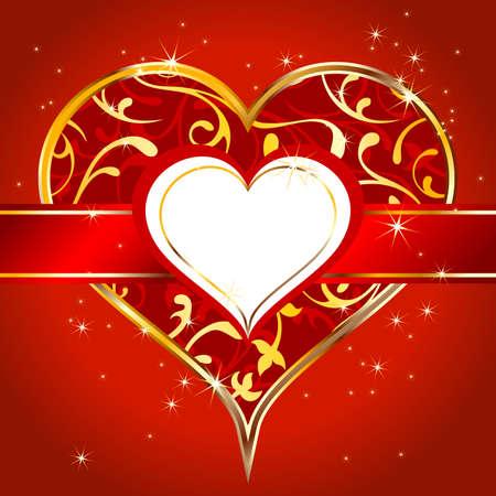 golden heart: heart