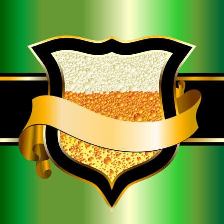 beer froth: beer label