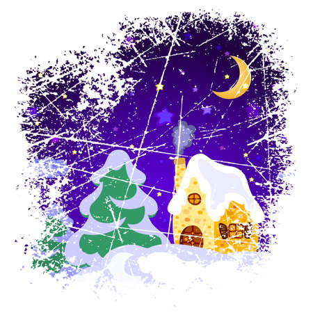 christmas landscape Stock Vector - 5066935