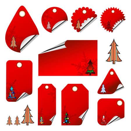 tags christmas Stock Vector - 5066862