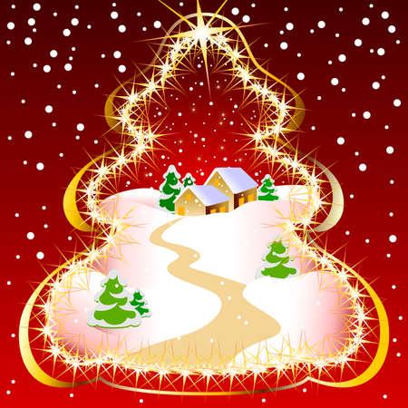 christmas landscape Stock Vector - 5066851