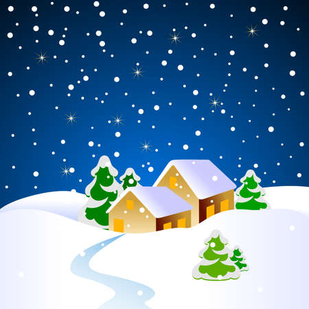 country life: christmas landscape