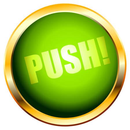 button push Stock Vector - 5089272