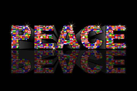 green peace: peace Illustration