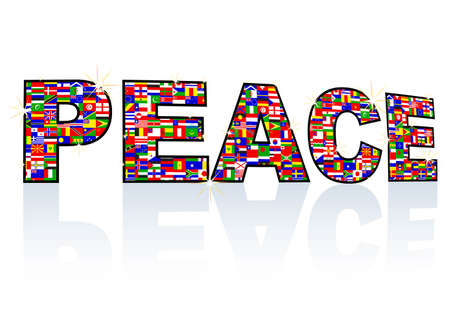 banner of peace: peace Illustration