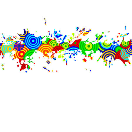 background splashes Vector