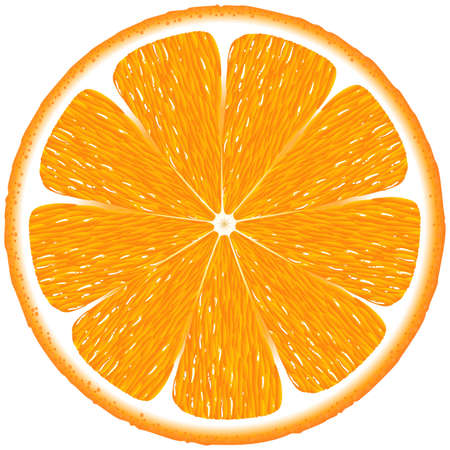 orange slice: orange background