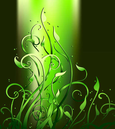 elven: background floral green