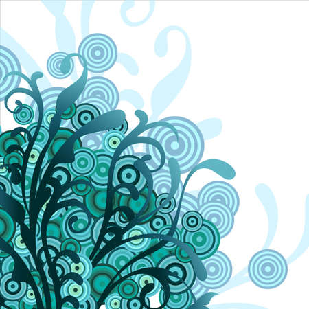 turquoise swirl: background floral blue