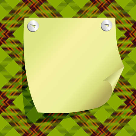 tag on the green background Vector