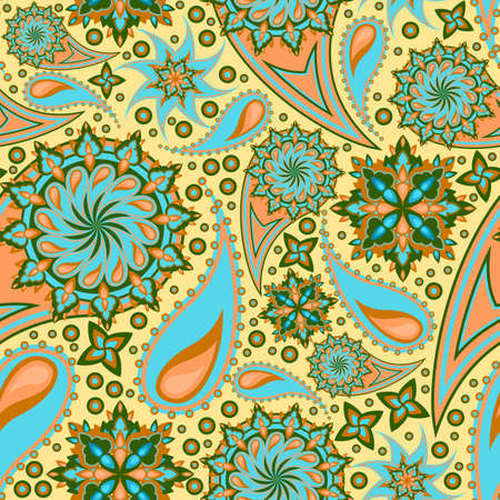 seamles indian decor Vector
