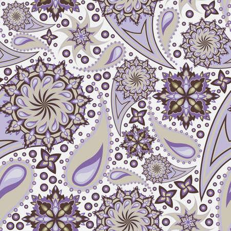 floral paisley: seamless indian decor Illustration