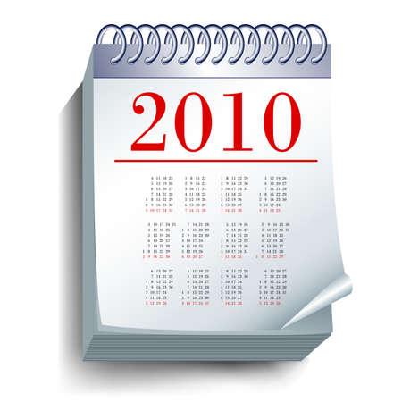 almanak: kalender  Stock Illustratie
